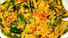 Bendekai Palya/Okra Fry with Coconut gravy