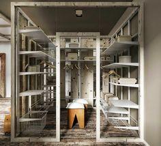 Casinha colorida: Estilo loft sustentável