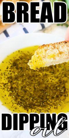 BEST BREAD DIPPING OIL RECIPE Olive Oil Dip For Bread, Bread Dipping Oil, Homemade Dinner Rolls, Fresh Bread, Appetizer Recipes, Delicious Appetizers, Appetizer Dips, Healthy Recipes, Fun Recipes
