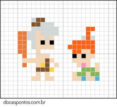 cross stitch - The Flintstones