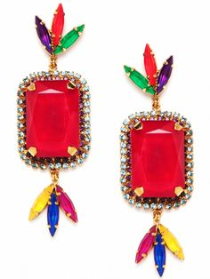 Erickson Beamon Versaille Dye Gem Earrings. whoa.