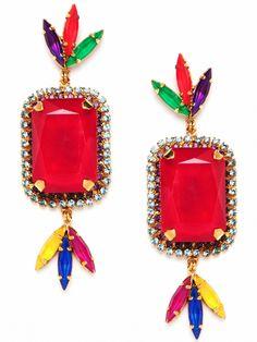 Erickson Beamon Versaille Dye Gem Earrings. whoa.
