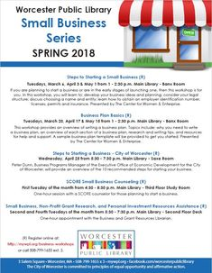 Join us for our Spring Small Business Series at the Main Library!