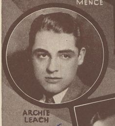 A very young Cary Grant on a cast card