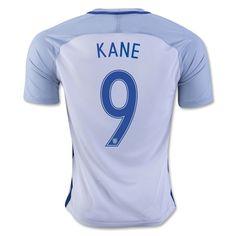 England Euro 2016 Home Men Soccer Jersey KANE #9