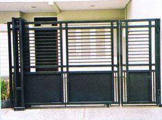 House Main Gates Design, Fence Gate Design, House Design, Fence Doors, Tv Shelf, Door Detail, Iron Gates, Bogor, Easy Home Decor