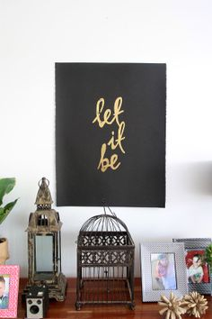 Let It Be gold foil print by WeLovePrints on Etsy, $75.00