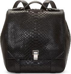 Proenza Schouler - Black Python PS Backpack