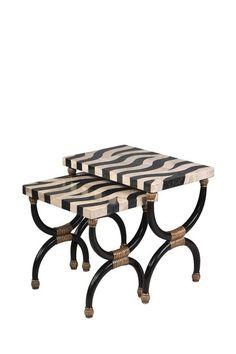 zebra, animalistic..Abyssinia Nesting Tables