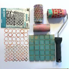 Create textured rollers with a hot glue gun DIY Who me Pinterest