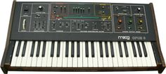 Moog Opus-3 ~ 49 key polyphonic ensemble synthesizer, featuring string, organ, and brass sections ~1979