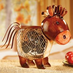 Figurine Country Horse Fan | DecoBREEZE #HomeDecor #PinToWin