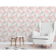 Gold Home Accents Wallpapers - Apex Geometric Wallpaper Rose Gold Fine Decor Gold Luxury Wallpaper, Geometric Wallpaper Rose Gold, Geo Wallpaper, Metallic Wallpaper, Modern Wallpaper, Pink Wallpaper For Living Room, Pink Wallpaper Decor, Temporary Wallpaper, Embossed Wallpaper