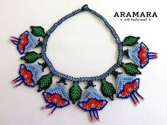 Your place to buy and sell all things handmade The Snake, Necklace Packaging, Jewelry Packaging, Huichol Art, Indian Agate, Art Du Fil, Mexican Jewelry, Cultured Pearl Necklace, Beaded Jewelry