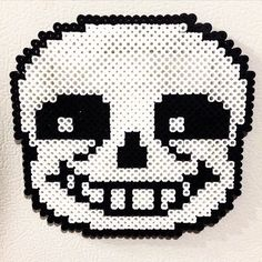 Sans Undertale perler beads by knight_in_tattered_armor