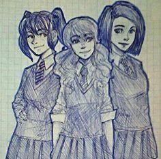 Захарра, Василиса и Диана ,именно так я их себе и представляла! А вы?
