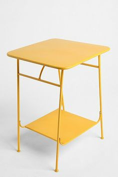 Factory Side Table - Yellow urban outfitters // $69.00 ($49.00 on sale)