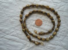 Green and Brown Jasper Handmade Beaded Necklace by LandofBridget, $18.00