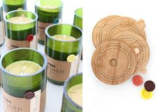 Rewined Candle Packaging! I love repurposed packaging a whole. Used wine bottles to make candles.
