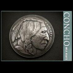 Native American Buffalo Coin ReplicaWILD HEARTS Leather&Silver http://item.rakuten.co.jp/auc-wildhearts/co2347/
