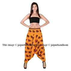 The Design is made for many purposes such as you can ware it as trousers or you can ware it as strapless jumpsuit/playsuit. Great for Yoga, Pilate, Workout, Beach, Plays, Dance, etc. They are loose fitting pants. Easy pair it with simple top and sandal, extremely cool.