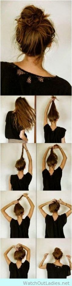 The perfect messy bun step by step tutorial