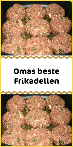 Omas beste Frikadellen Ingredients 500 g minced meat mixed 1 onion (s) 1 roll 1 egg (s) 1 tsp salt 1 tsp mustard 1 tsp sliced ​​marjoram dried 1 tsp paprika powder a lot of pepper from the mill French Toast Bites, Garlic Health, Vegan Cinnamon Rolls, Best Meatballs, Breakfast Recipes, Dinner Recipes, Healthy Baking, Recipe Collection, Ground Beef