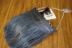 How To Make A Fringed Leather Bag | DIY In PDX