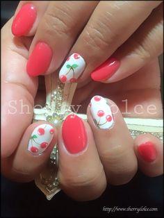Image via We Heart It #cherry #cute #girly #nailart #nails