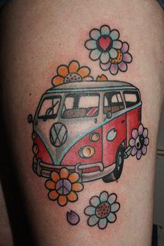 volkswagen bus tattoo - Google zoeken