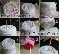 make a cloth diaper cake