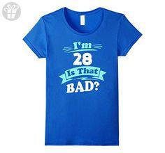 Womens 28th Birthday Shirt for Her - Funny 28th Birthday Tee Shirt Medium Royal Blue - Birthday shirts (*Amazon Partner-Link)