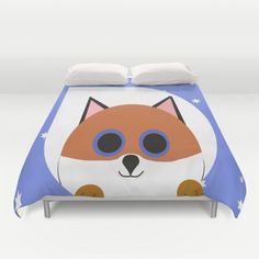 Fox Blue Duvet Cover Personalized Duvet Full Queen King Gift for her Him Bedding Bed Decor Modern Apartment Pink Duvet Children Duvet by xkbeth on Etsy White Duvet Covers, Bed Covers, Where To Buy Bedding, Bedding Sets Online, How To Make Bed, Luxury Bedding, Modern Decor, Bean Bag Chair, Gifts For Her
