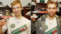 Darcy Kuemper's 1st NHL win!!  Jason Zucker's 1st NHL goal!!  3-2 win vs. Detroit