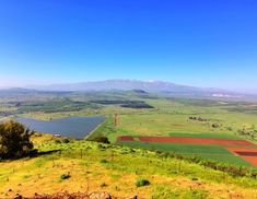 Mt Bental overlooking Golan and  Syria. Snow-capped Mt Hermon in background.
