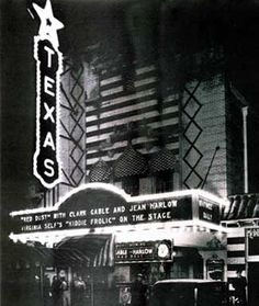 The Texas Theatre is a Dallas landmark still operating in the Oak Cliff neighborhood of Dallas, Texas.  It gained historical fame for being the place Lee Harvey Oswald, the man suspected of killing President John F. Kennedy and Dallas police officer J. D. Tippit, was arrested after a brief fight on November 22, 1963.  Opened in 1931, it was part of a chain of theaters once owned by Howard Hughes. It was the first theater in Dallas with air conditioning.