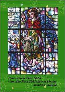 AAVD: Os vitrais da Capela do Seminário SVD de Fátima1. São GABRIEL -  O Arcanjo da Anunciação