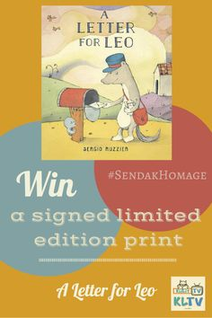 "Find the #SendakHomage in Sergio Ruzzier's ""A Letter for Leo"" then tweet your answer to @SergioRuzzier to enter to win a signed print of the cover art! Now that's cool ..."