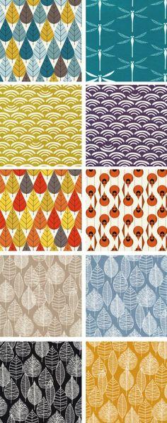 Cloud 9 and Birch Fabrics organic cotton canvas prints