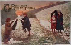 Vintage Christmas Postcard - Snowman | Flickr - Photo Sharing!