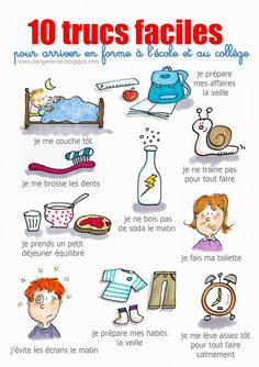 10 trucs faciles pour arriver en forme à l'école - 2