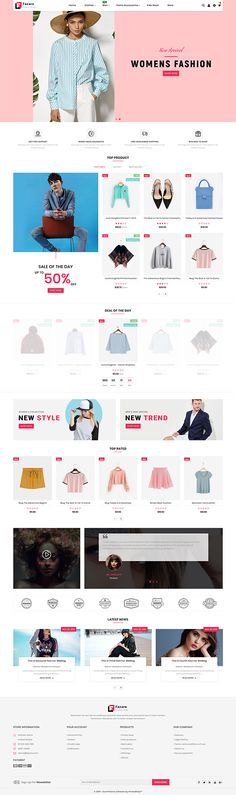 Fasaro - The Fashion Store Template is a good choice for selling - Ecommerce Website Design, Website Design Layout, Ecommerce Template, Free Ecommerce, Best Shopify Themes, Web Design, Design Ideas, Graphic Design, Branding Your Business