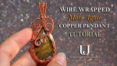 Copper Jewelry, Copper Wire, Wire Jewelry, Jewlery, Wire Tutorials, Jewelry Making Tutorials, Craft Tutorials, Wire Wrapped Pendant, Wire Wrapped Jewelry