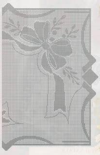 Schemi per il filet: Centro rettangolare con fiocco