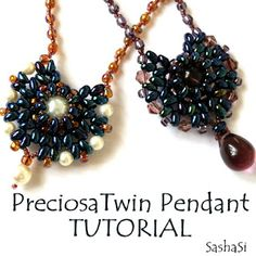 PreciosaTWIN Pendant Tutorial N°2 - Free for Your Personal Use