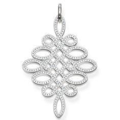 THOMAS SABO Knot pendant from the Sterling Silver Collection. Pendant LOVE KNOT with eyelet - 925 Sterling silver - white zirconia-pavé Size: 5.6 cm