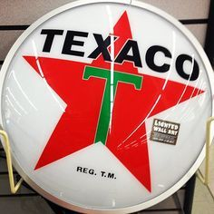 This illuminated sign would look fantastic hanging outside, in a garage, or even in a #nostalgic kitchen! #texaco #HobbyLobby