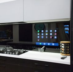 Caro and Kingi Room 7   Kitchen - The iPad Splashback! #theblock #theblockshop #kitchen