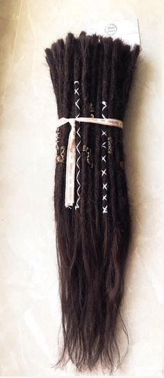 Echthaar Dreadverlängerung / Dreadlocks | Etsy White Blonde, Dark Blonde, Human Hair Dread Extensions, Hair Cure, How To Get Thick, Dreadlocks, Wooden Beads, Different Colors, Shampoo