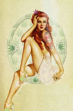 vintage weed pin up | Poster | Pinterest